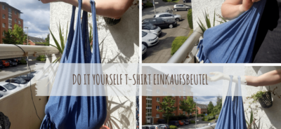 DIY T-Shirt Einkaufsbeutel upcycling t-shirt do it yourself