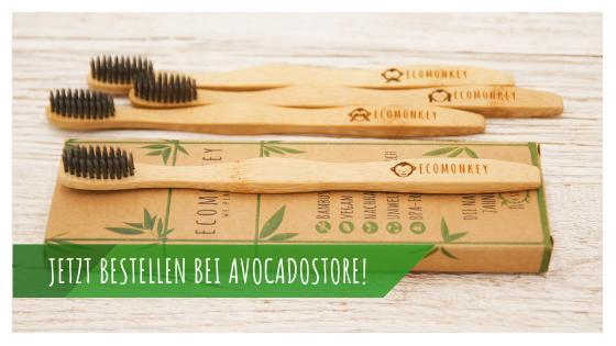 Vegane Bambus-Zahnbürste weich avocadostore