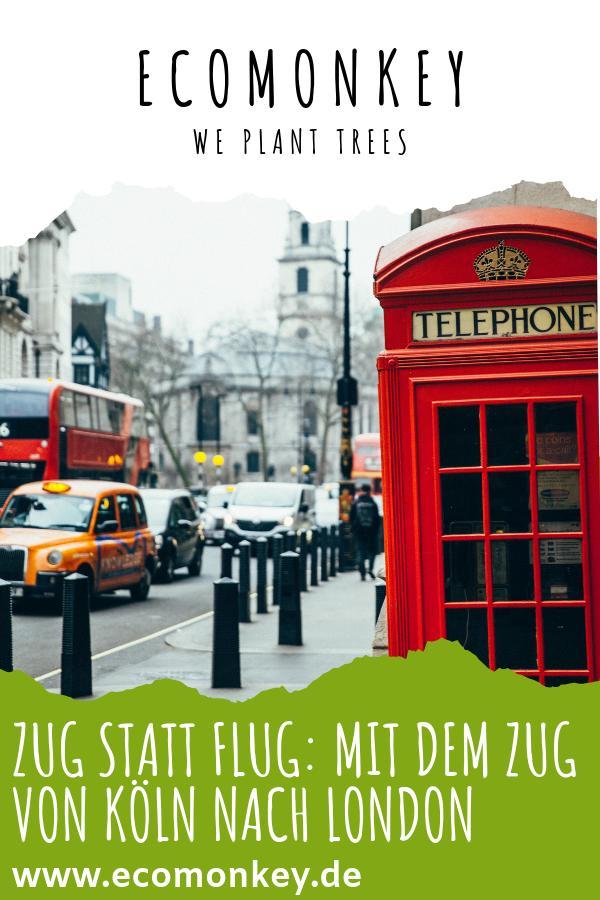 ZUG STATT FLUG_ MIT DEM ZUG VON KÖLN NACH LONDON
