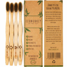 Vegane Bambus Zahnbürste Erwachsene 4er Pack 02