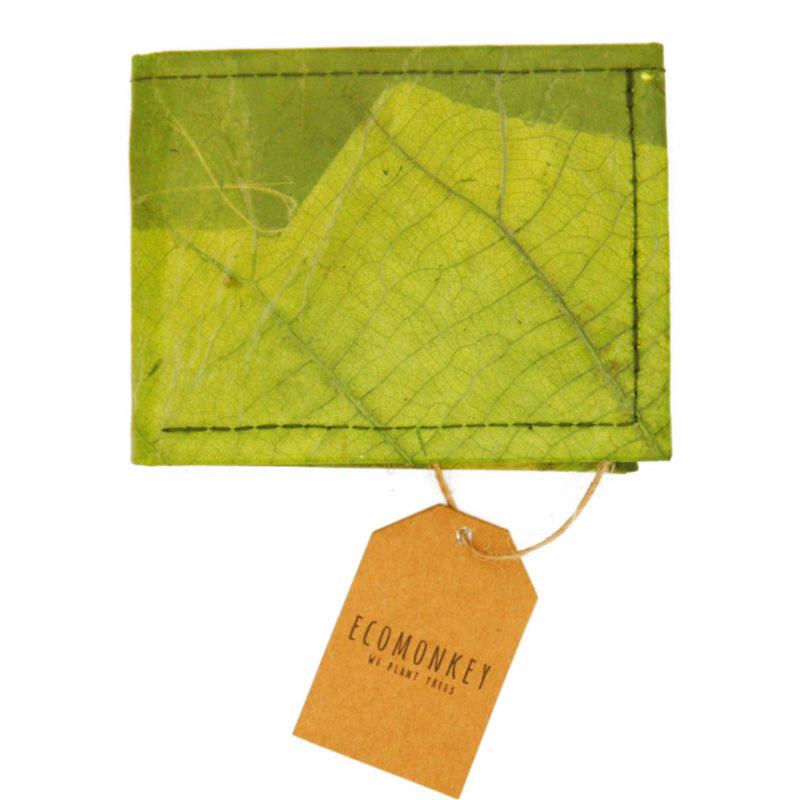Geldbörse vegan aus Blättern grün ecomonkey