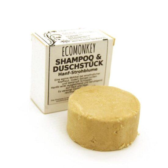 2in1 Shampoo- & Duschstück Hanf-Strohblume aus Deutschland