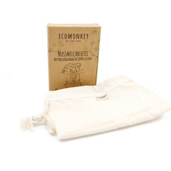 Nussmilchbeutel aus 100% Baumwolle plastikfrei